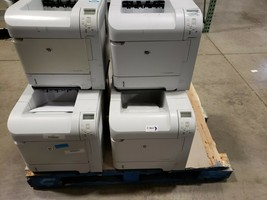 HP LaserJet P4014N Printers w/ 6 CB518a Feeders Lot of 6 Printers! CB507A - $629.99