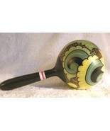 Hand Painted Maraca Flower Indonesia Abstract Coconut Shell - $14.00