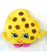 Shopkins Cookie Kooky Plush Stuffed Pillow Toy 14 x 15 inch Yellow Brown... - $9.89