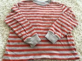 Circo Boys Orange Gray Striped Long Sleeve Shirt XS 4-5 - $5.00