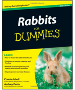 Rabbits for Dummies : Audrey Pavia  : New Softcover  @ZB - $13.95