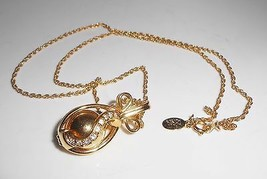 Joan Rivers Egg Pendant Crystal Wrapped Necklace - $23.75
