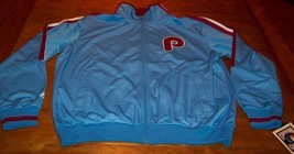 Vintage Philadelphia Phillies Mlb Baseball Stitched Jacket 2XL Xxl New w/ Tag - $84.15