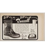 1960 Print Ad Russell Zephyr Hunting Boots Berlin,Wisconsin - $9.88