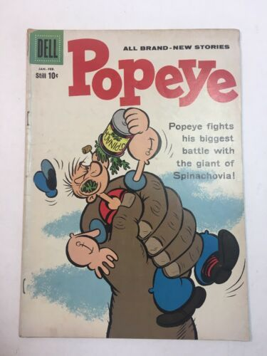 Popeye #51, Jan/Feb 1960 Dell SILVER AGE COMICS SPINACHOVIA
