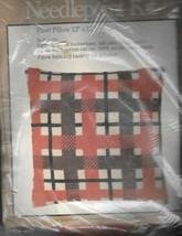 Vintage Caron #4691 - Plaid Needlepoint Pillow Kit - New - $19.80