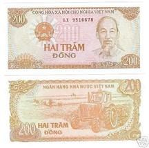 Vietnam 200 Dong Awesome Banconota Gemma Fior di Conio ~ Fr/Veliero - $2.57