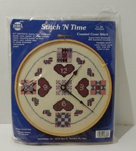 """Patchwork Clock Counted Cross Stitch Kit NeedleMagic Unopened 8"""" - $14.50"""