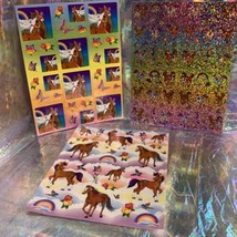 Lot Of 3 Lisa Frank Full Sticker Sheets Rainbow Chaser Lollipop Prism HTF image 1