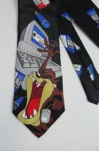 Necktie Tazmanian Devil TAZ Looney Tunes Computer Geek Year 2000 EUC! - $9.89