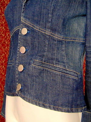 DKNY JEANS denim fitted jacket S (T19-02J8G)