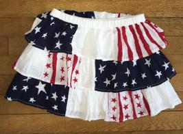 * Childrens Place red white blue americana patriotic star stripe skirt 1... - $6.93