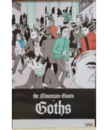 """""""Goths"""" by The Mountain Goats 12"""" x 18"""" Music Promo Poster - $10.95"""