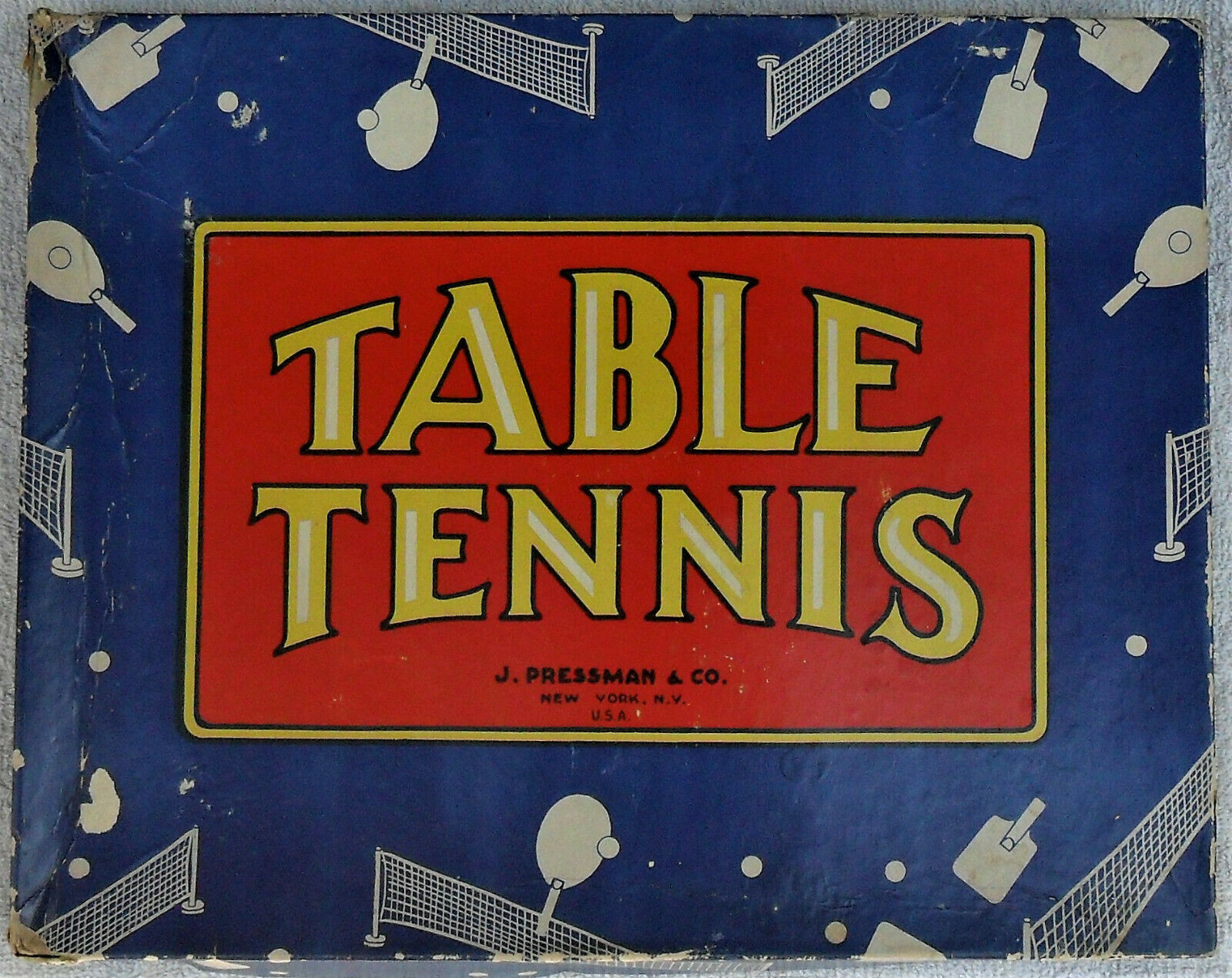 Vintage Table Tennis Game Never Played J. Pressman 1950's