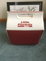 IGLOO Little Playmate Red/White Cooler Push Button Open - $20.75
