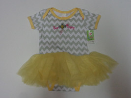 Bee Happy  Diaper Shirt Yellow Tutu Baby Girl 3-6 Months NWT Ganz - $21.77