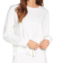 NEW Rachel Parcell L Large Fleece Pullover Long Sleeve Sweatshirt White $55 - $21.09