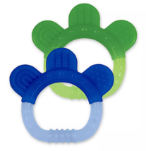 green sprouts 2-Pack Sili Paws Silicone Teether, Blue/Green (Brand New) - $8.99