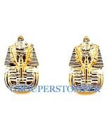 Pharaoh Earrings New Post Bullet Style King Tut Egyptian Positive Spirit - $11.90