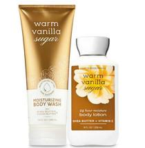 Bath & Body Works Warm Vanilla Suga Body Lotion + Moisturizing Body Wash Duo Set - $31.95