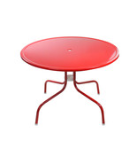 "Northlight 39.25"" Red Retro Metal Tulip Outdoor Dining Table - $211.60"