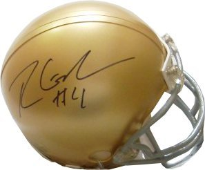 Ryan Grant signed Notre Dame Fighting Irish Replica Mini Helmet