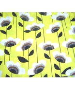 Yellow and Black Graphic Garden Floral AMF Fabric New - $29.99