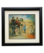 Family of Saltimbanques by Pablo Picasso Framed 14x17 High Quality Photo... - $89.09