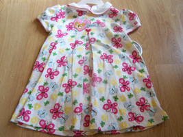 Size 12 Months Carters Butterfly Floral Summer Dress & Bloomers Pink & White New - $12.00