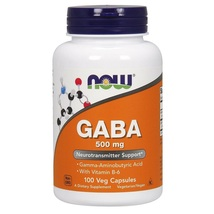 NOW Foods GABA 500 mg + B-6 100 VCap, Promotes Relaxation, FRESH, Made In USA - $29.02