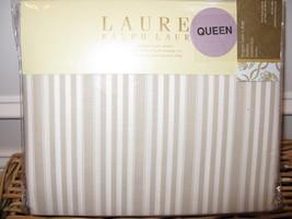 Ralph Lauren Bluff Point Ticking Stripe Queen Flat Sheet - $61.70