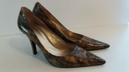 Nine West Snake pattern Wnhonore Women Leather Heel Shoes Size 8 1/2 - $10.26