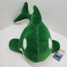 "Sea World Green White Whale Plush Stuffed Animal 18""  New - $24.09"