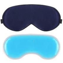 Plemo Upgraded Sleep Mask, 100% Pure Silk Eye Cover with Reusable Ice Pa... - $15.25