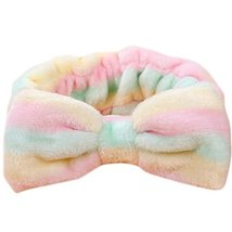 Lovely Hair Band Makeup Hair Wash A Face With Hair Hoop Bowknot Headdress