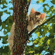 pepita Cat Up The Tree Needlepoint Canvas - $82.00