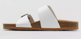 Brand New Women's White Mad Love Keava Footbed Buckle Summer Sandals image 2