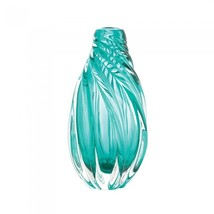 Ocean Aqua Spiral Art Glass Vase - $59.33