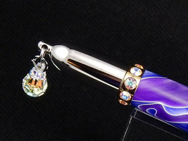 VALENTINES DAY! - Diva Twist Pen in Swirls of Lavender & Purple, Swarovski - $24.99