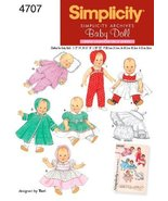 Simplicity Sewing Pattern 4707 Doll Clothes, A (S-M-L) - $13.48