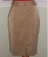 Slimming Winkle Free Casual Khaki Cargo Short Skirt Nwt - $7.50