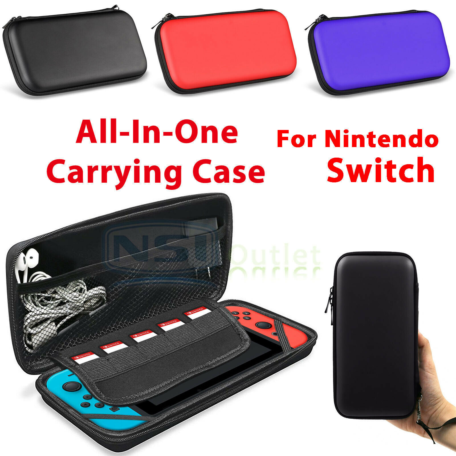 Primary image for For Nintendo Switch Bag Travel Carrying Portable Storage Case Accessories Pocket