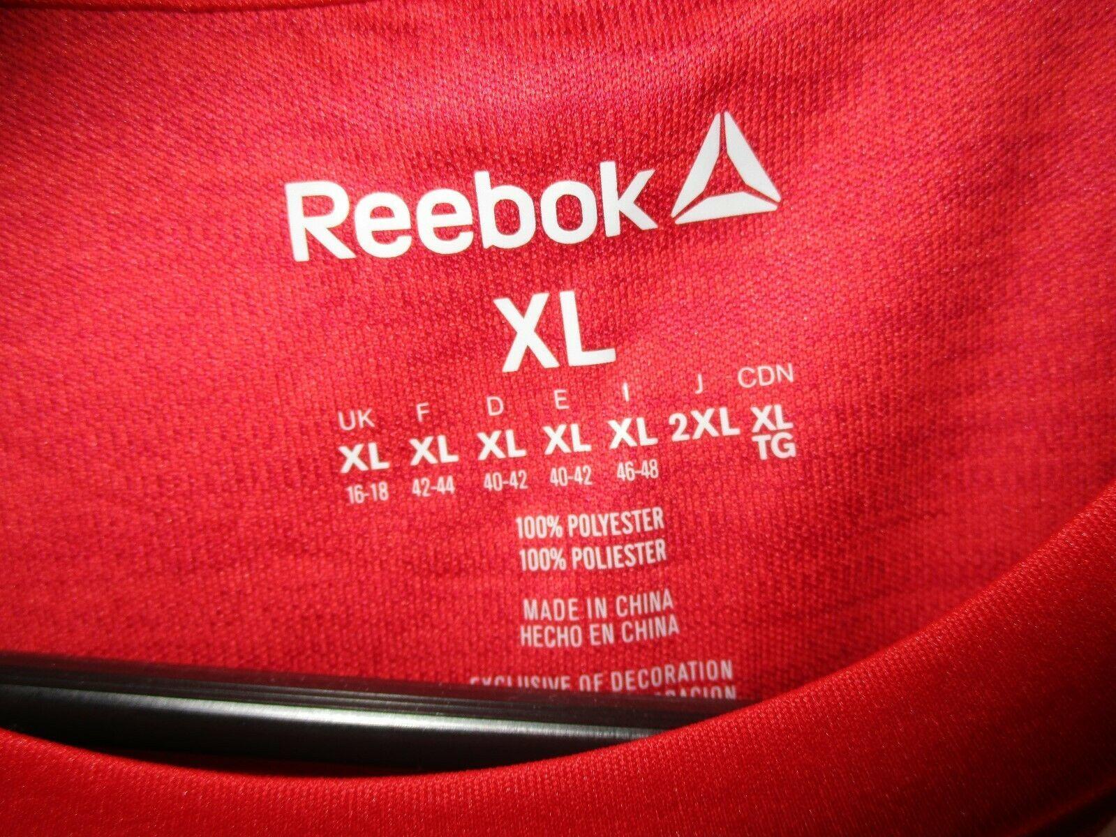 NWT  Reebok Sleeveless Athletic Workout Tee Shirt   Red   XL