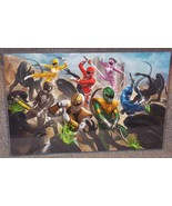 Power Rangers vs Aliens Glossy Art Print 11 x 17 In Hard Plastic Sleeve - $24.99