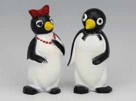 Vintage Novelty Salt & Pepper Shaker Set Willie & Millie Penguin F&F USA image 1