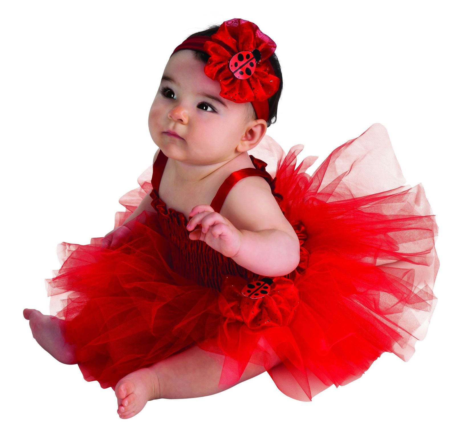 Infant Ladybug Tutu Dress Halloween Costume 6-9 Months