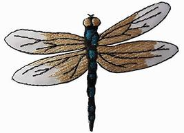 """Spk Art 3-1/4"""" Embroidery Iron On Dragonfly Applique Patch, Sew on Patch... - $5.93"""
