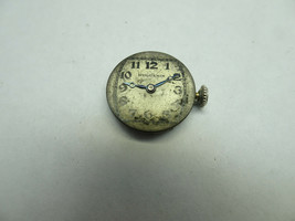 VINTAGE HUGUENIN 17J LADIES WATCH MOVEMENT AND DIAL FOR RESTORATION OR P... - $91.92
