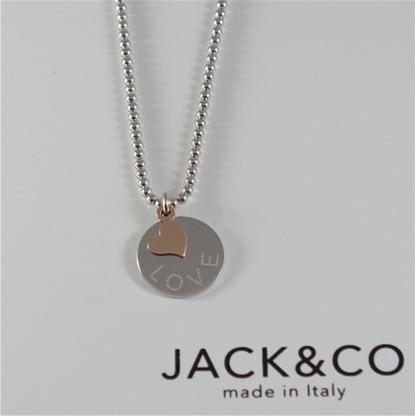 COLLIER PERLE EN ARGENT 925 JACK&CO AVEC COEUR OR ROSE 9KT JCN0545