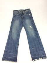American Eagle button fly straight leg distressed jeans mens 28x30 - $402,78 MXN